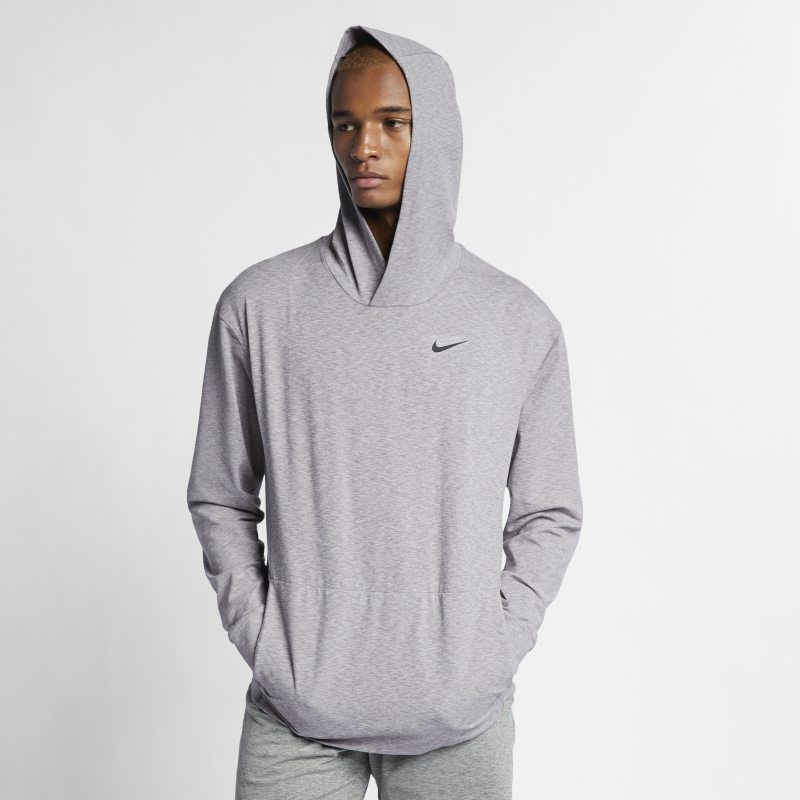 Dri FIT Men's Pullover Long Sleeve Yoga Training Hoodie in