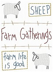 Farm Gathering Sheep Sampler - 5x7 | Primitive | Machine Embroidery Designs | SWAKembroidery.com HeartStrings Embroidery