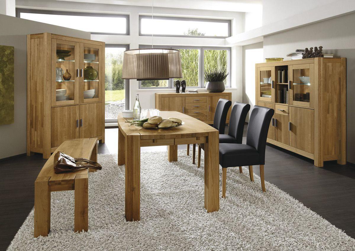 Tisch/Stuhlgruppe 2913 / 5231 Wildeiche (Chalet