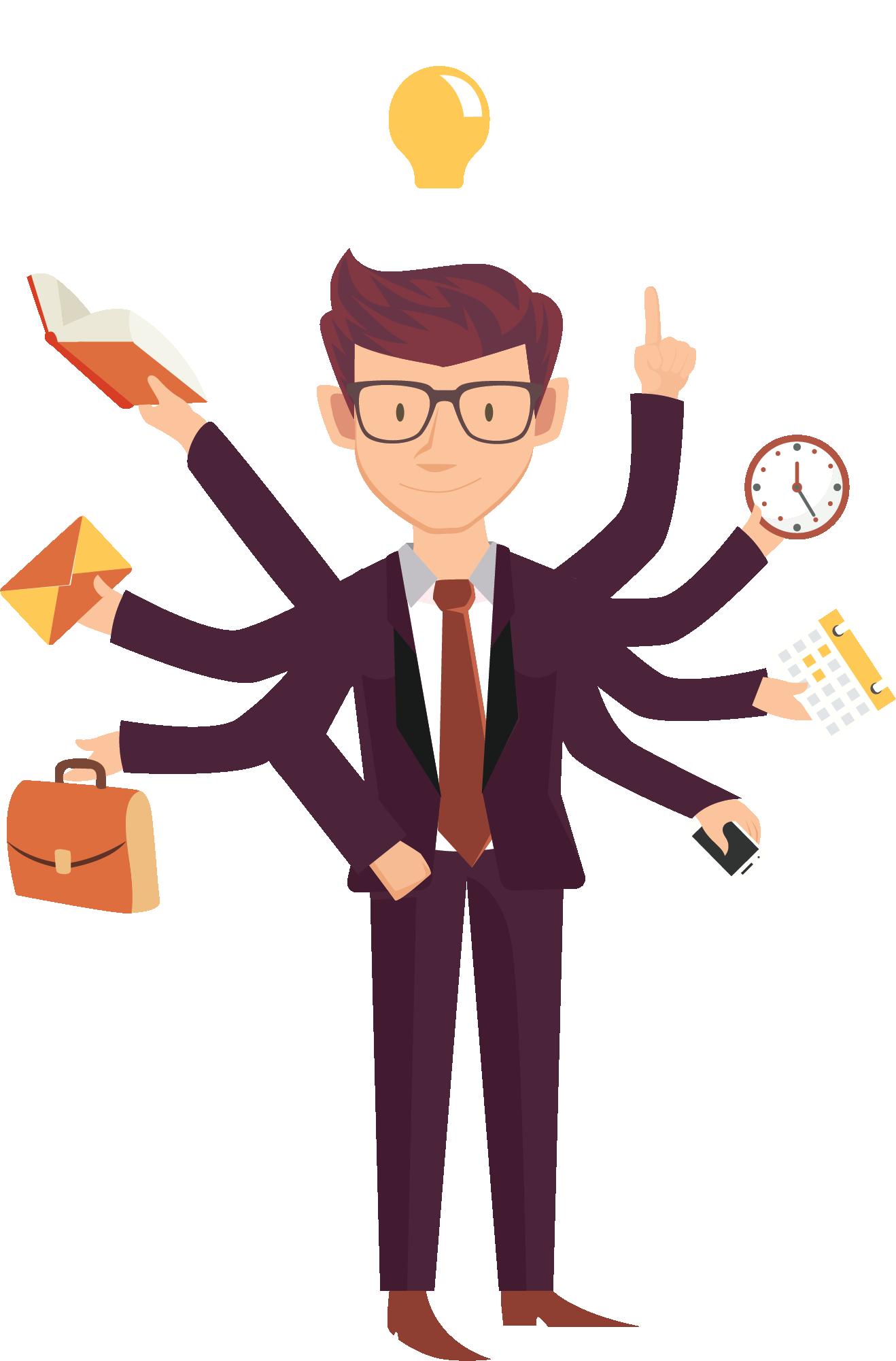 Busy Business People Entrepreneurship Job Employment Cartoon Business People Technology Design Graphic Cartoon