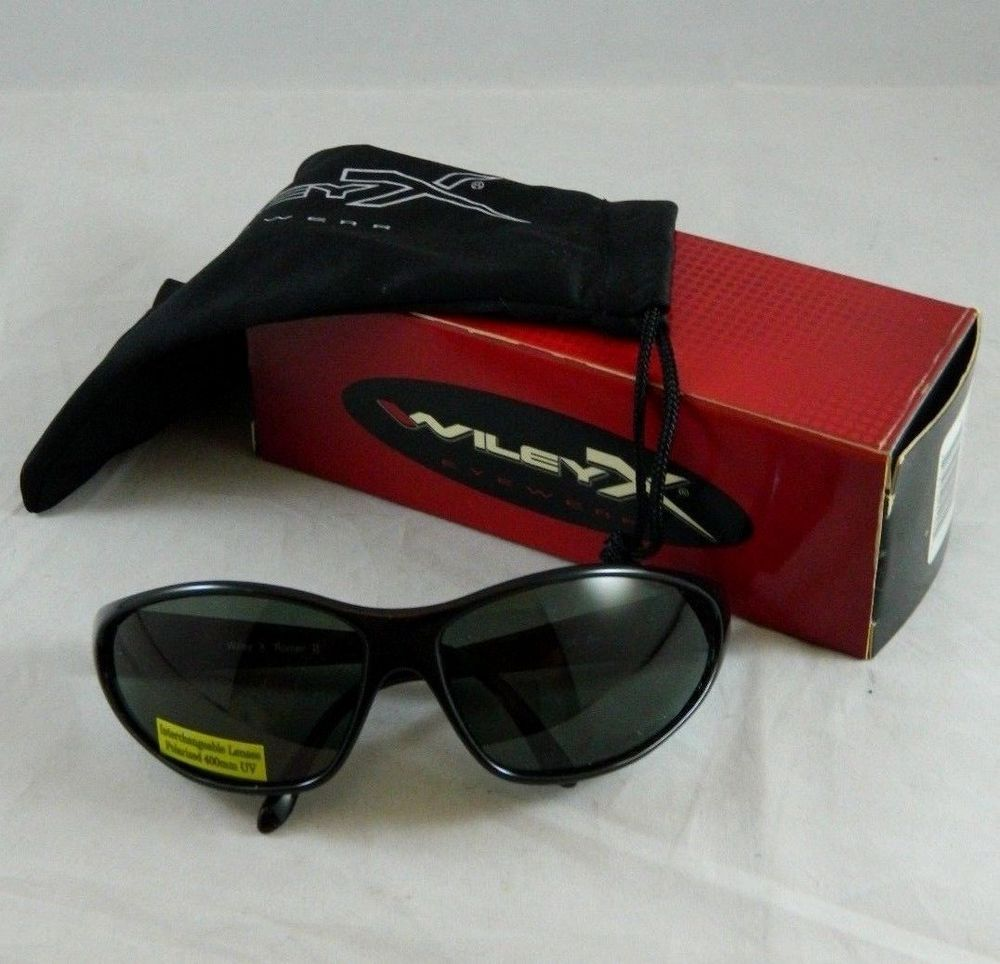 3f66e6e9ea03 NOS Wiley X ROMER II Eyewear Sunglasses Polarized Smoke Green 2 WileyX  Glasses #WileyX
