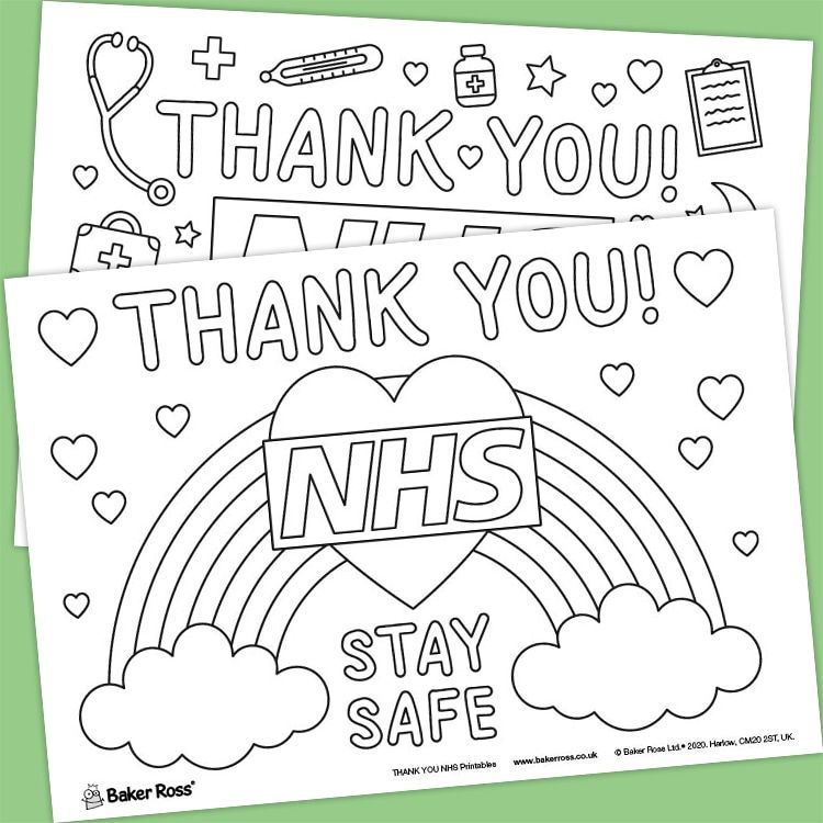 Thank You Nhs Landscape Posters Free Craft Ideas Baker Ross In 2020 Craft Free Printables Free Kids Nhs