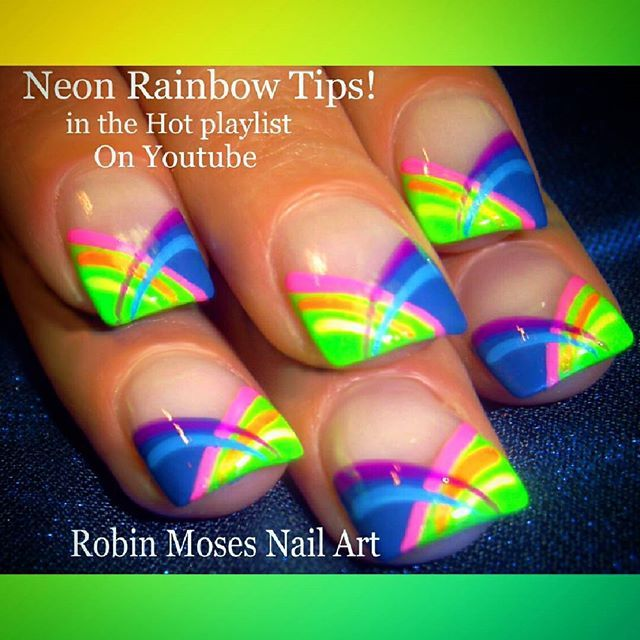 Rainbow Frenchtips In The Hot Playlist On Youtube At