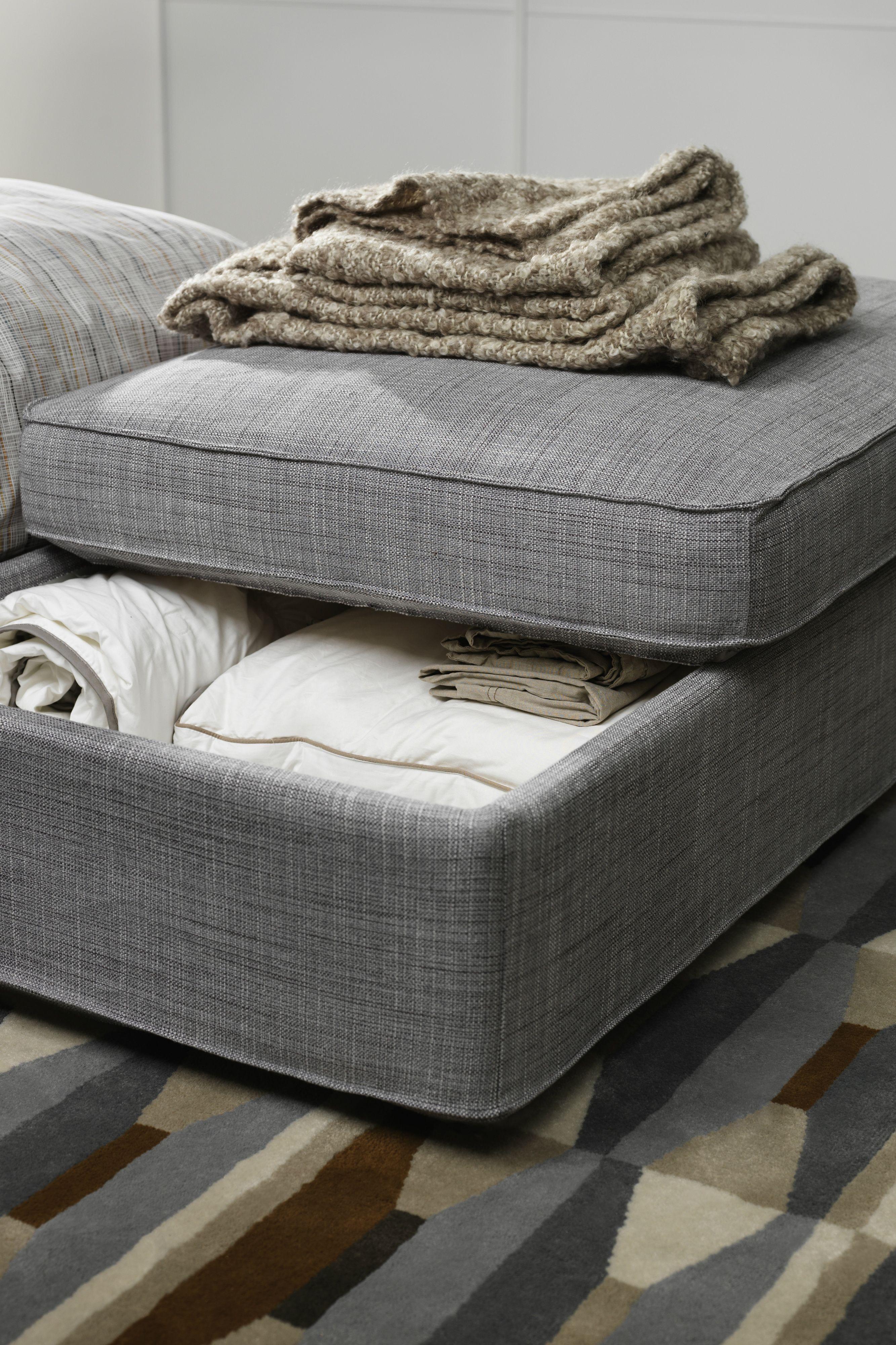 Storage Is Even Better When It S Hidden The Ikea Kivik Footstool