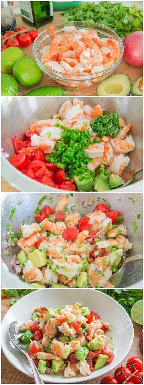 Zitronen-Garnelen und Avocado Salat pikanter Zitronen-Garnelen und Avocado Salat,pikanter Zitronen-