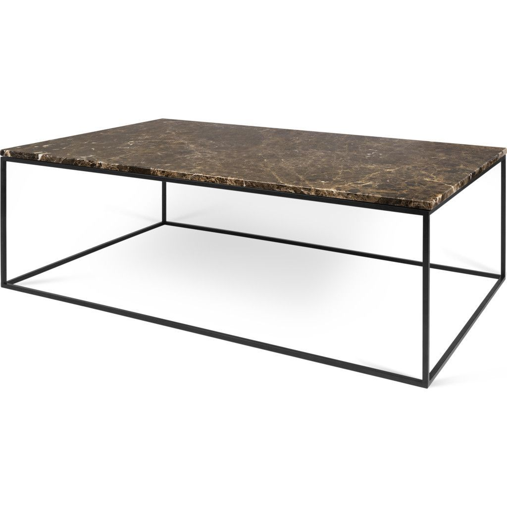 Temahome Gleam 47 X30 Marble Coffee Table Brown Marble Black