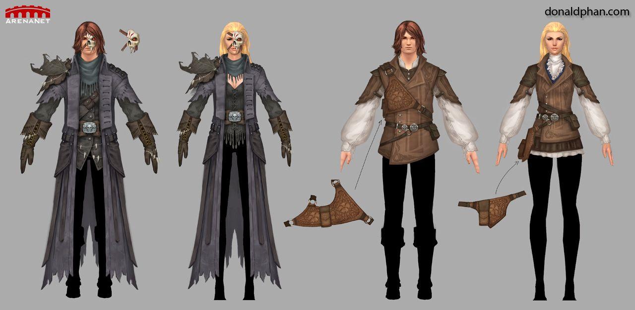 Guild Wars 2 Medium Armors by ~YeeWu | Light Style: Men in