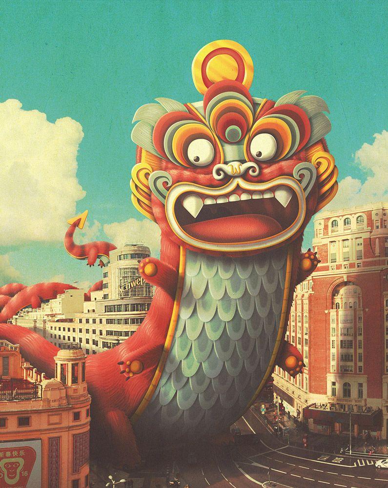 Lemanoosh Chinese New Year Poster New Year Art New Year