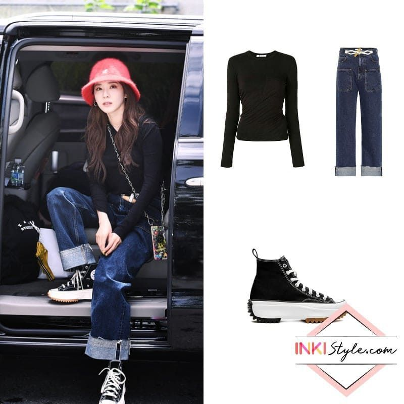 Sandara Park S Cool Girl Off Duty Look On Her Way To Film Follow Me Review On Korean Fashion Simple Black Tops Kpop Fashion