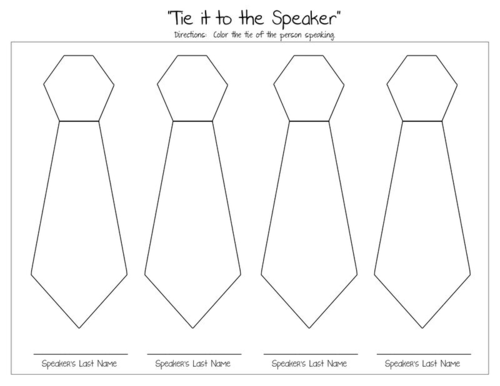 General Conference Tie it to the Speaker coloring page This is