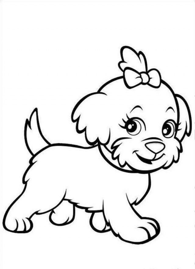 Polly Pocket Cute Puppy Coloring Page Coloringplus 20200 Puppy