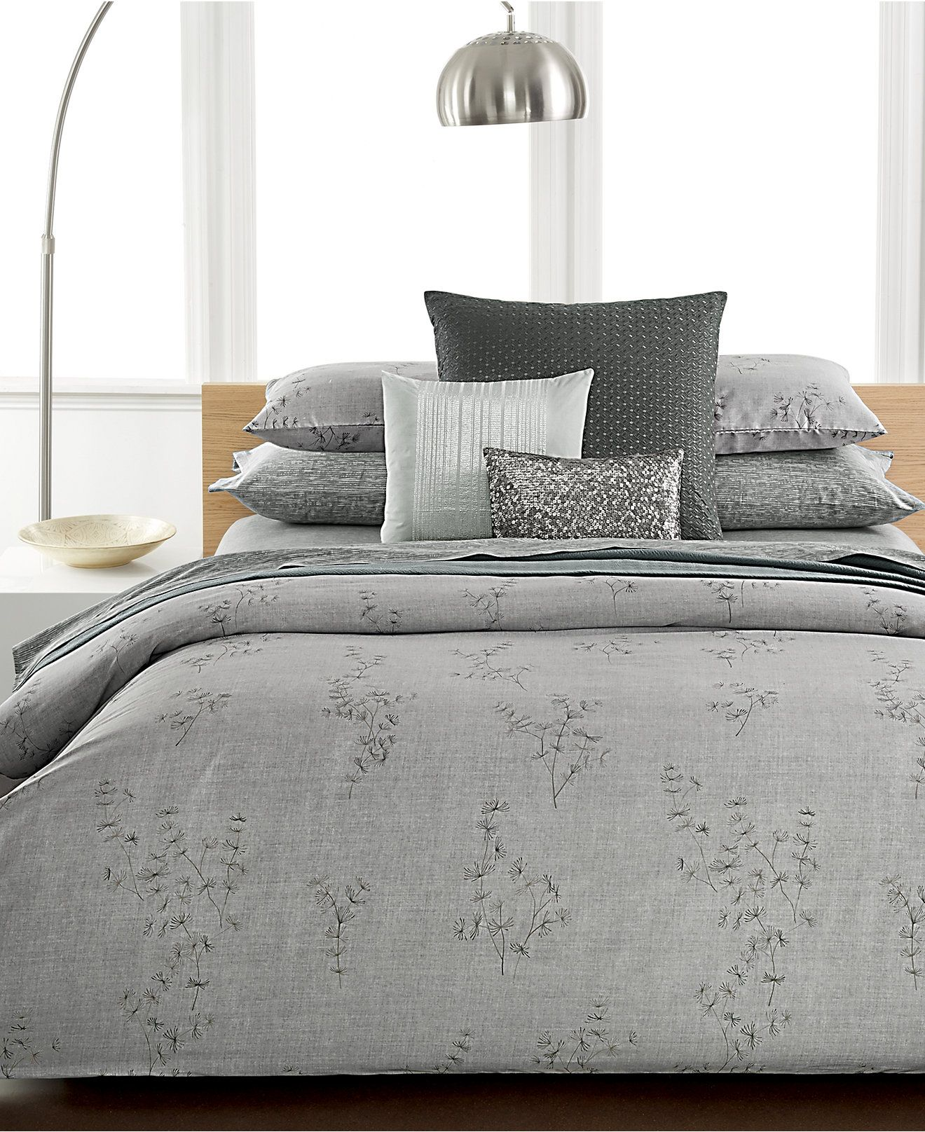 Calvin Klein Acacia Bedding Collection Bedding Collections Bed Bath Macy S Bed King Fitted Sheet Coverlet Bedding