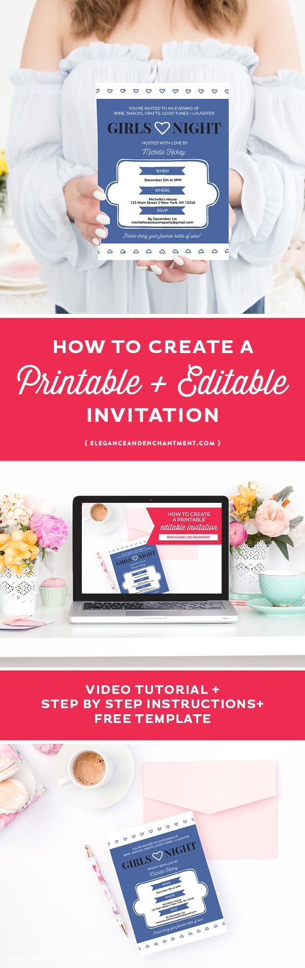 How to create a printable editable invitation includes a video how to create a printable editable invitation includes a video written tutorial stopboris Image collections