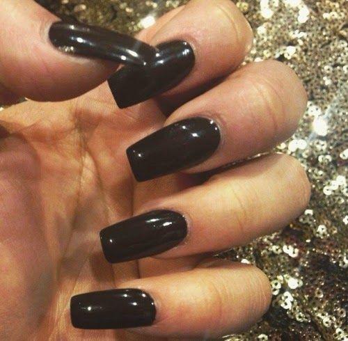 Nail Frenzy Long Square Nails Leila Boularbah Long Square Nails Square Nails Black Acrylic Nails