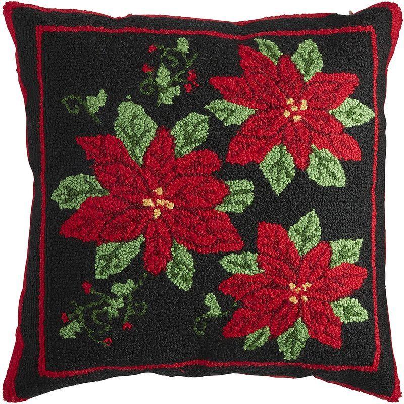 HandTufted Poinsettia Pillow Pier 40 Imports Pillow Covers Gorgeous Pier 1 Pillow Covers