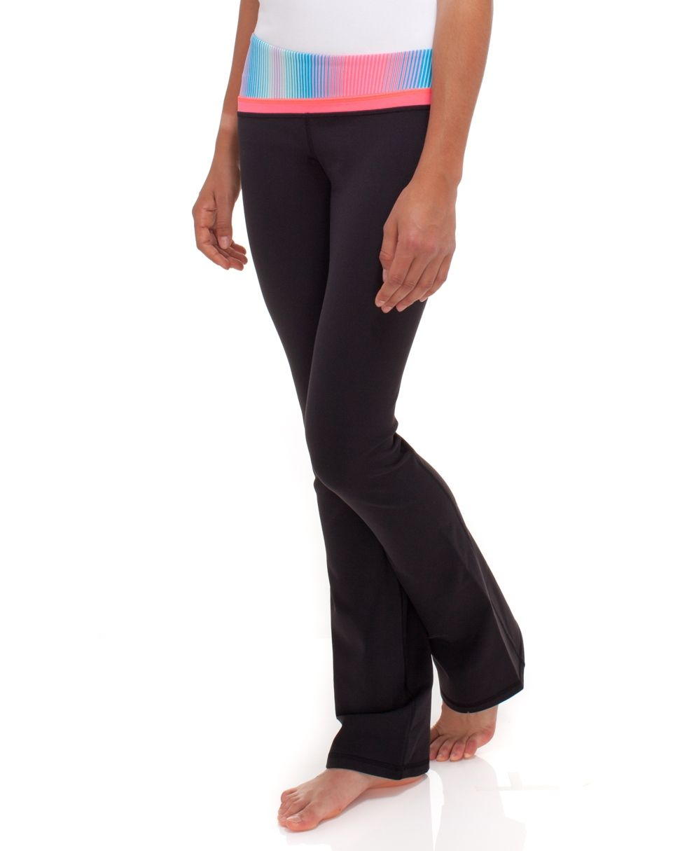 0ee4b660ccbbfe ivivva dedication pant in black | Fitness | Pants, Girls pants ...