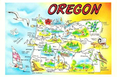 Fun Interesting Facts About Oregon - Portland oregon on the us map