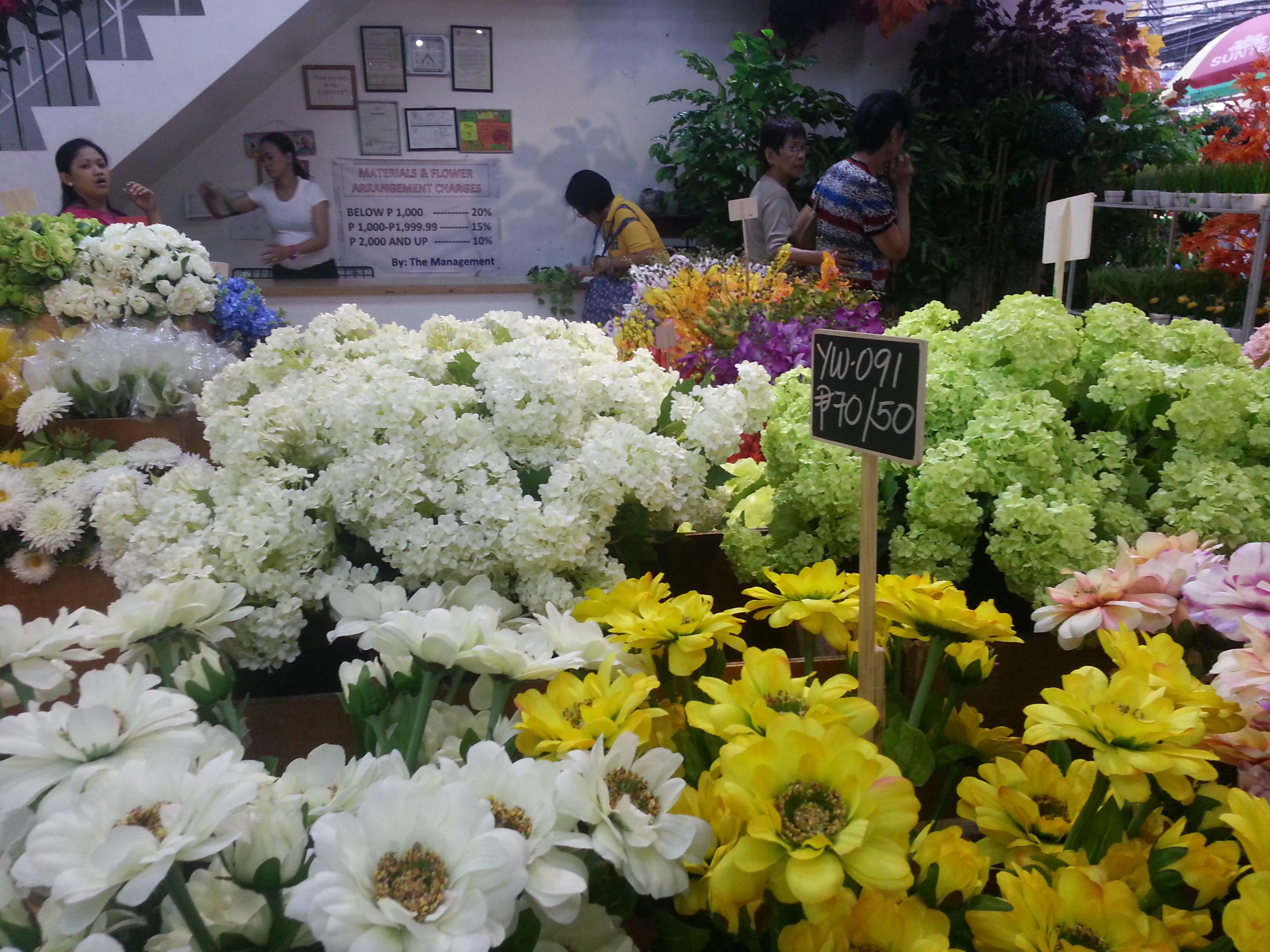 Artificial Flowers At Jinhoung Bijou Art Inc Divisoria Quiapo