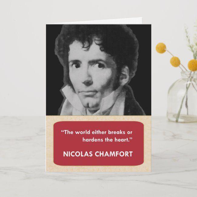 Nicolas Chamfort Anti-Valentine's Day Card #valentinesdaycards