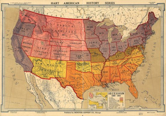 United States Of America Beautiful By GalleryLF On Etsy MAP - Us map q