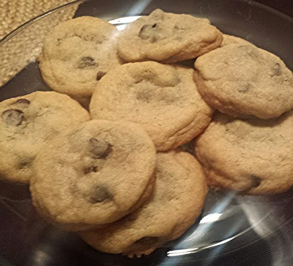 Soft baked chocolate chip cookies! 5.00 stars, 8 reviews. @allthecooks #recipe #cookies #dessert #chocolate #chip #easy