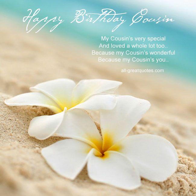 Happy Birthday Cousin | Happy birthday cousin, Free ...