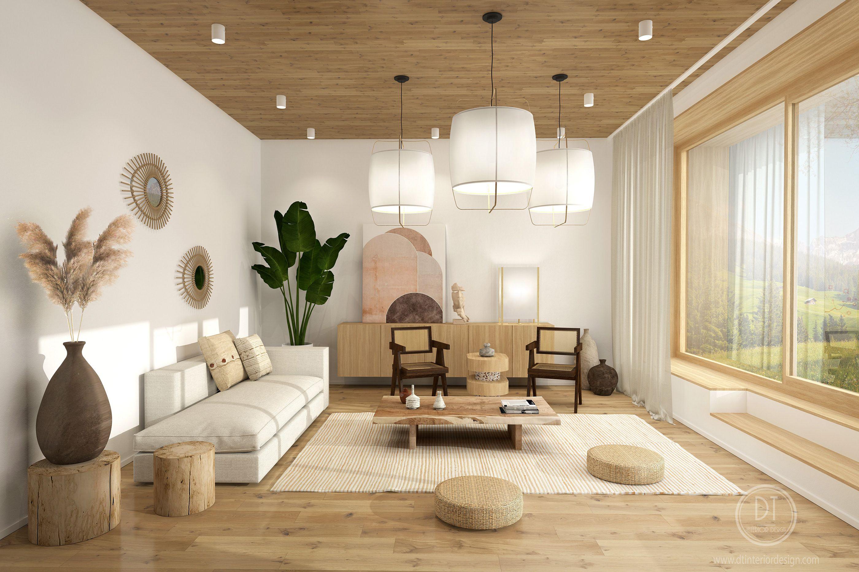 Japandi Living Room Bedroom On Behance Japandi Living Japandi Living Room Japandi Home Zen decor living room