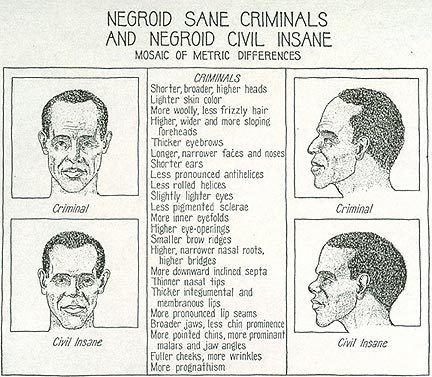 Racist cartoon describing how face shape and criminal activity are somehow related in eugenics also best images interesting history united states asylum rh pinterest
