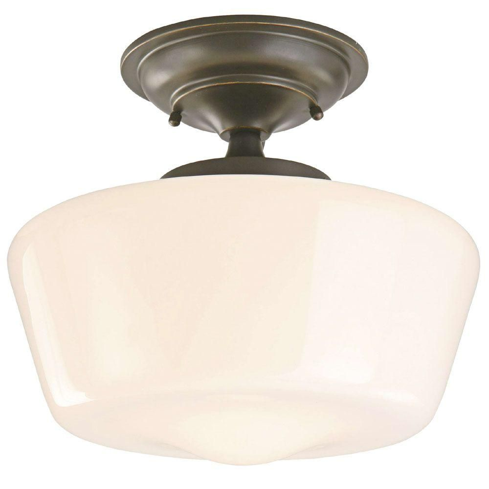 Hampton Bay Esdale 12 In 1 Light Oil Rubbed Bronze Semi Flush Mount Sf230 The Home Depot Ceiling Lights Oil Rubbed Bronze Flush Mount Semi Flush Mount Lighting