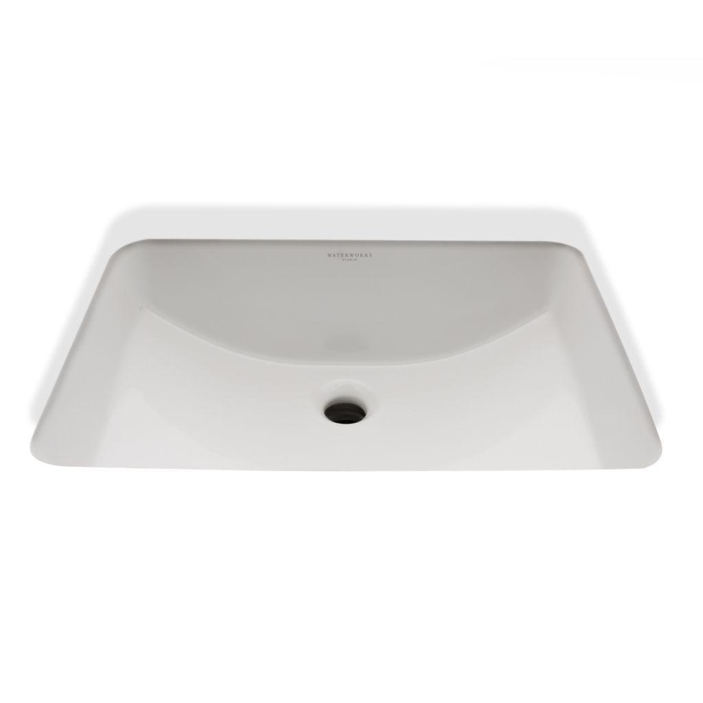Discover Clara Undermount Rectangular Vitreous China Lavatory Sink Single  Glazed 20 1/16