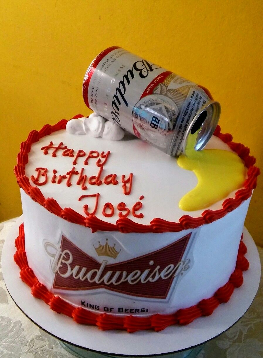 Budweiser Beer Cake With Images Beer Cake Cake For Boyfriend