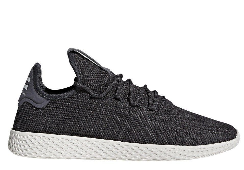 5557b8b6ec09  CQ2162  New Men s ADIDAS Originals Pharrel Williams PW TENNIS HU - Carbon  White
