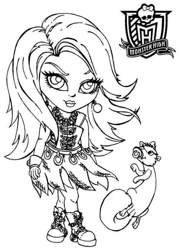 baby spectra monster high coloring pages   Monster High Activity Book Printable   Monster High Baby ...