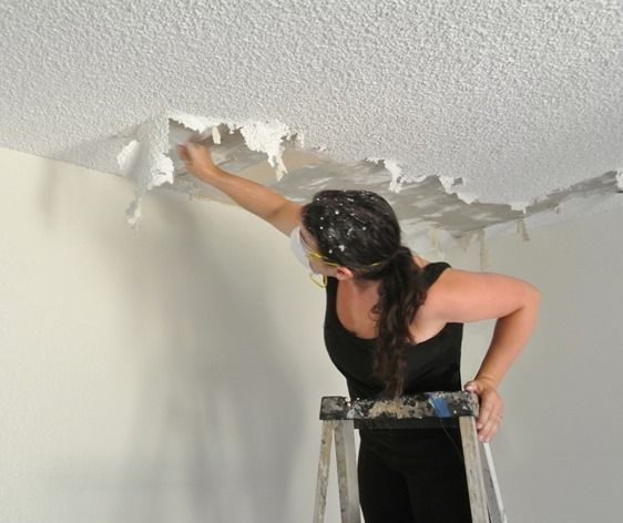 Centsational Girl Blog Archive How To Remove A Popcorn Ceiling Repair And Renovations Popcorn Ceiling Removing Popcorn Ceiling Ceiling