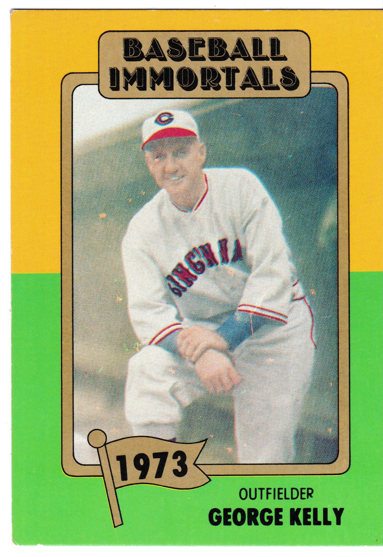 1980 Baseball Immortals George Kelly Baseball Cards