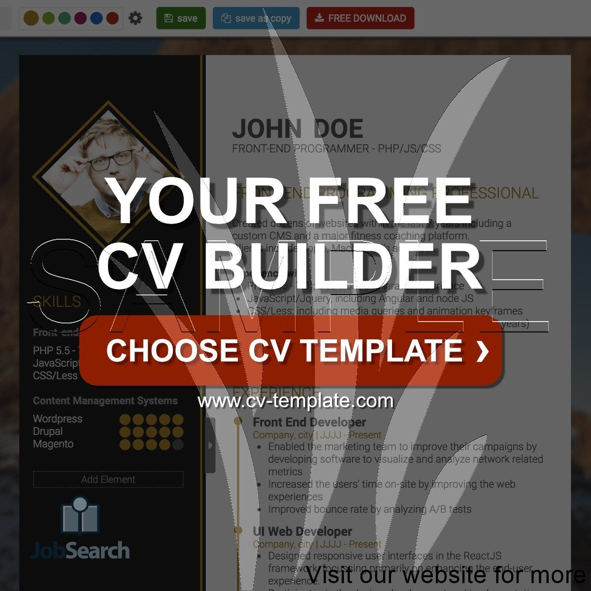 CV Template Download CV Design CV Builder 2020 Cv