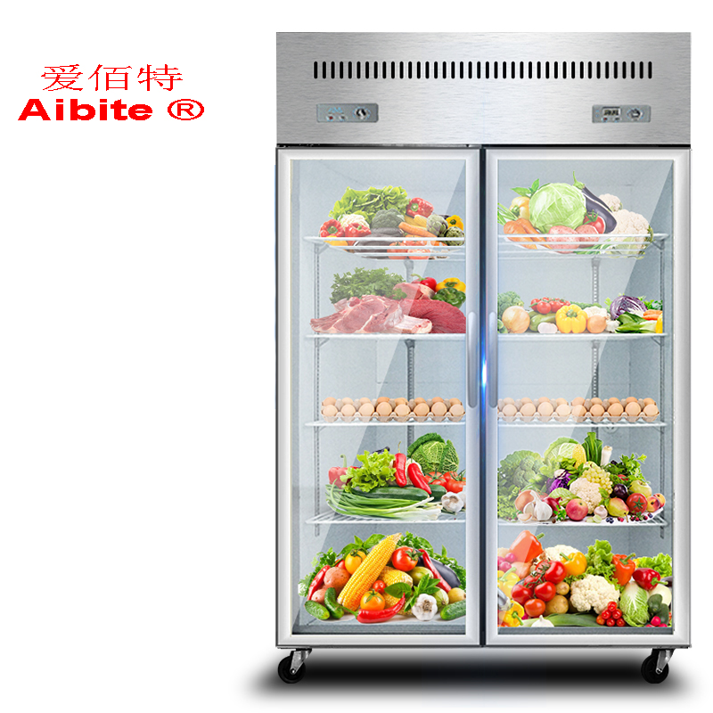 2 Door Upright Direct Cooling Coomerical Freezer For Sale In 2020