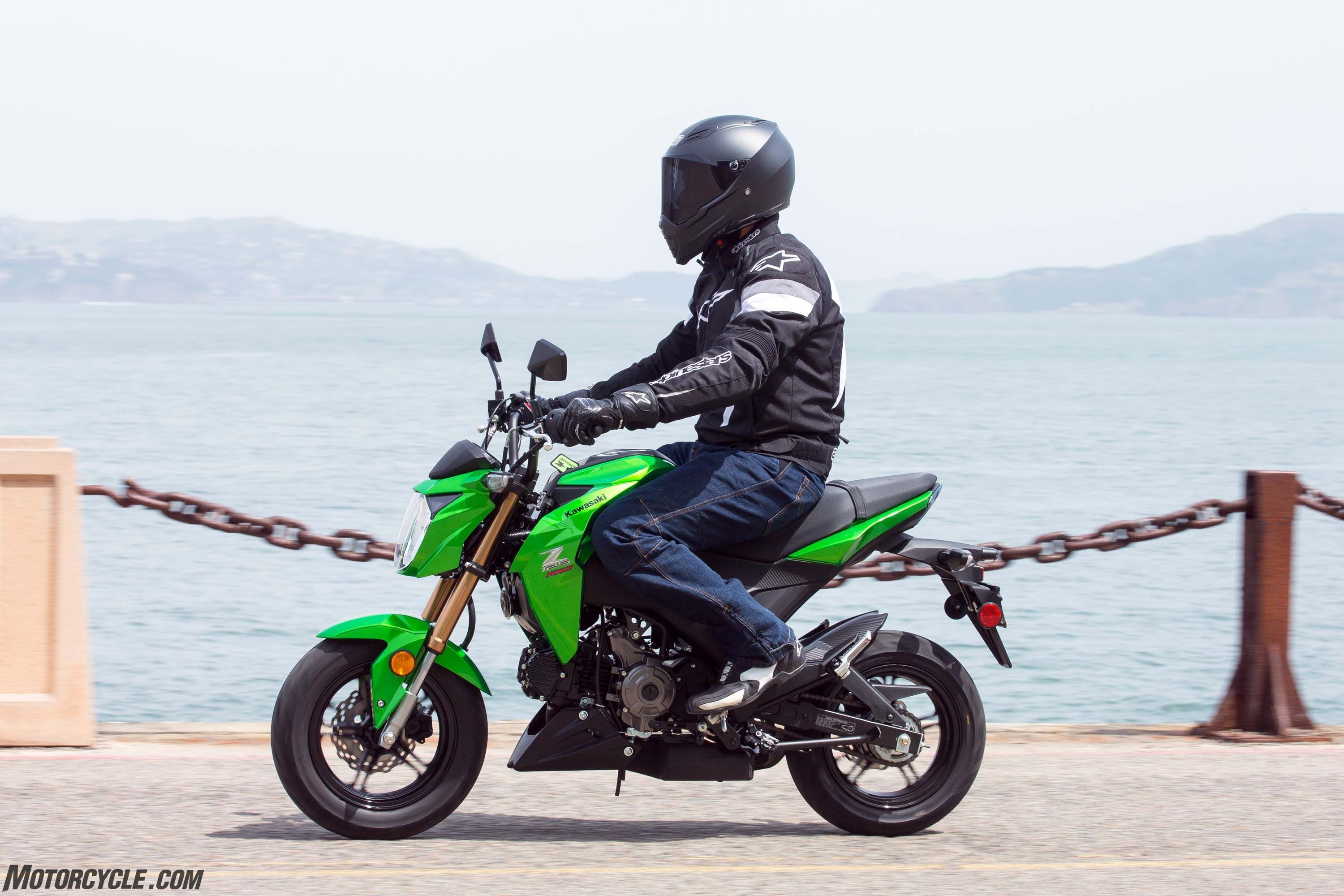 2017 Kawasaki Z125 Pro >> Kawasaki Z125 Pro 2017 Kawasaki Z125 Pro First Ride Review
