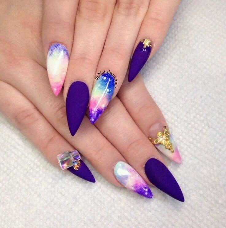 Nail art 》 | Nail art matte T.M.M;) | Pinterest | Nail inspo, Mani ...