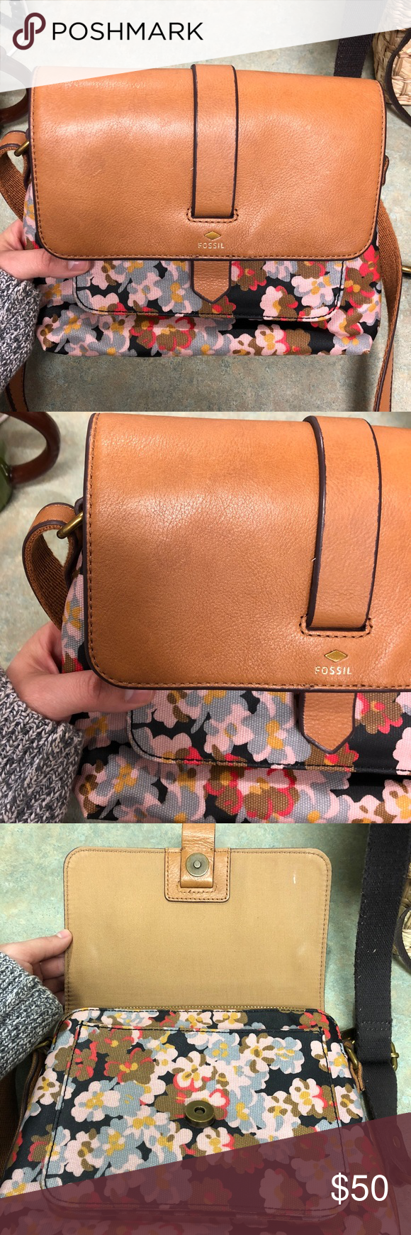 Fossil Kinley Small Crossbody Fossils Bags And Brown Excellent Used Condition Stain On Front But Hardly Noticeable I