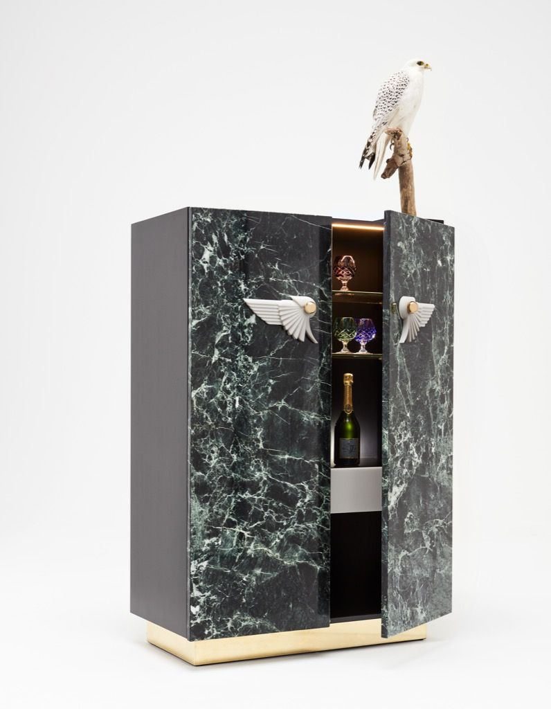 BIRD OF PARADISE Cocktail Cabinet By Rue Monsieur Paris