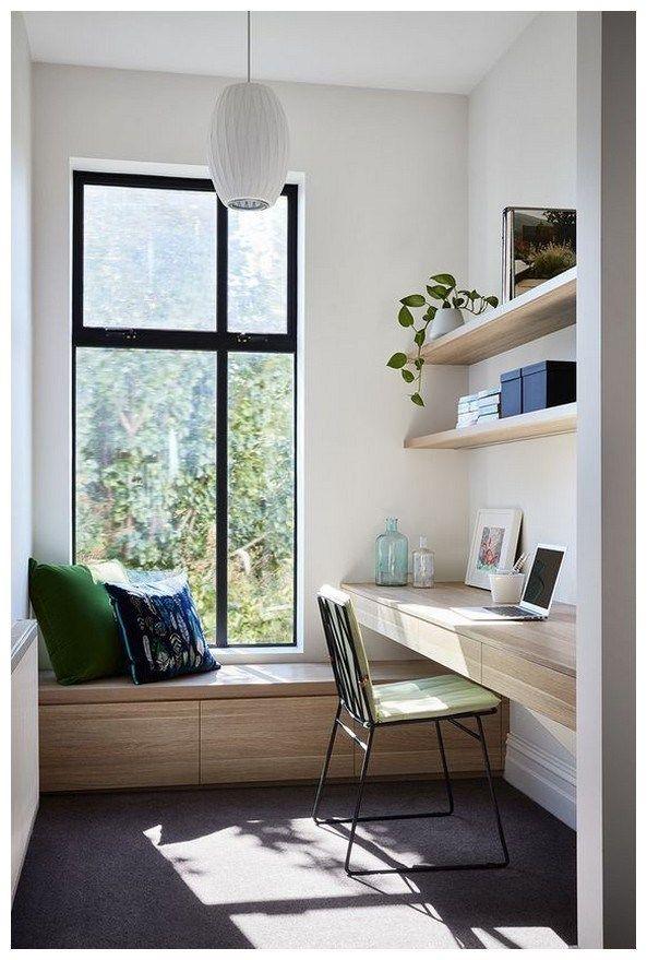 45 Beautiful Home Office Ideas For Small Spaces Homedecorideas Homeofficeideas Home Contemporary Home Office Small Apartment Furniture Apartment Living Room