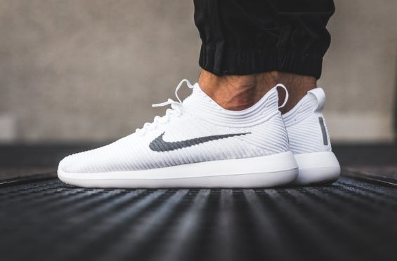 The Nike Roshe Two Flyknit V2 White Wolf Grey Is A Clean Pair For Summer |  Wolf