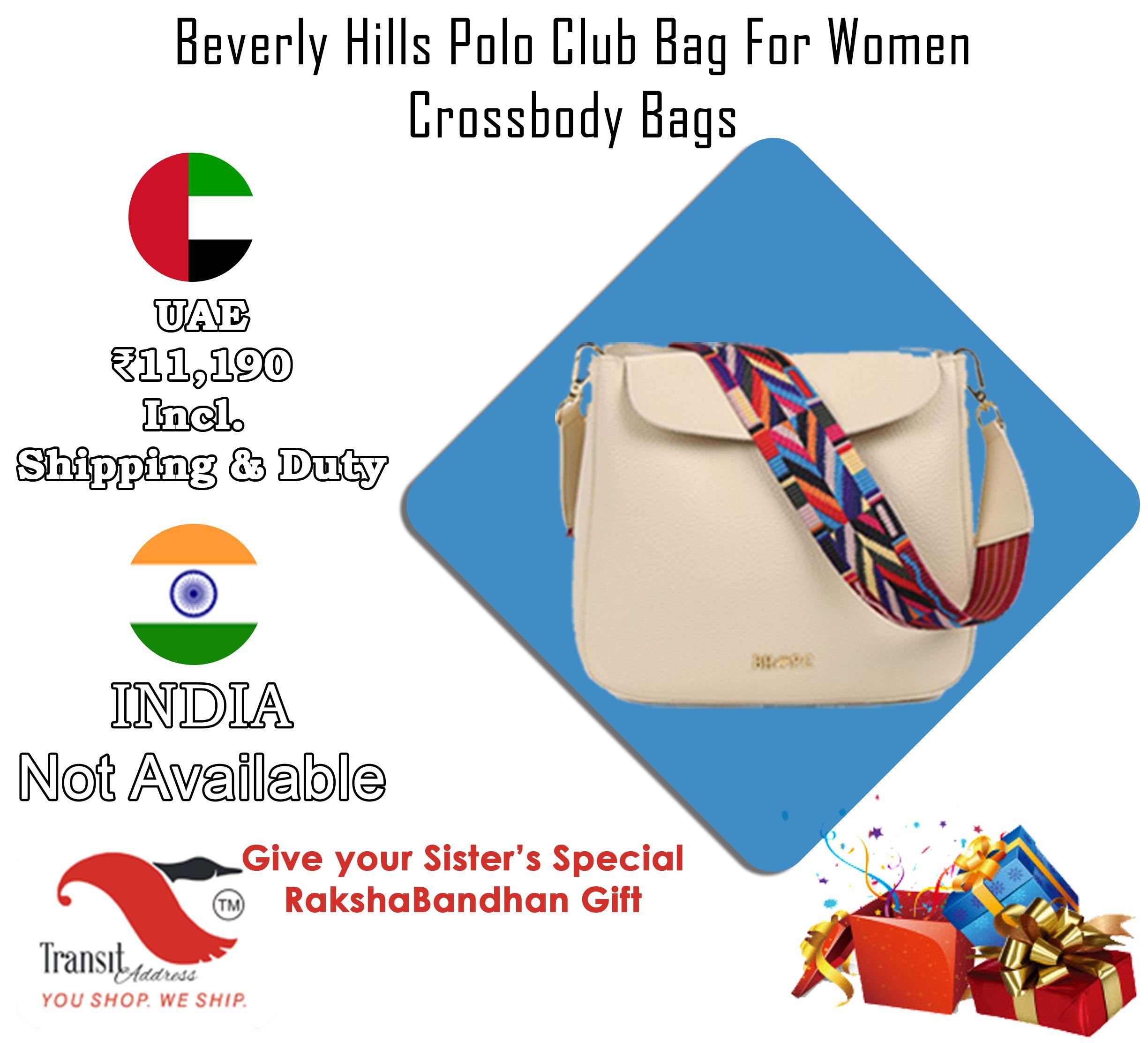 Beverly Hills Polo Club Bag For Women,Cream - Crossbody Bags