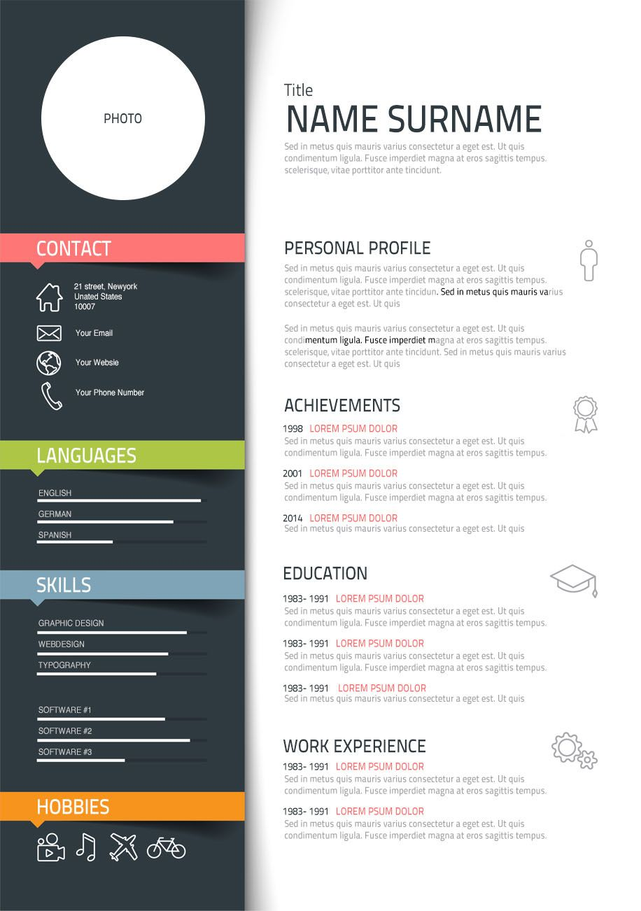 templates in design cv