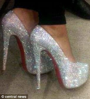 Sparkly shoes, Glitter high heels