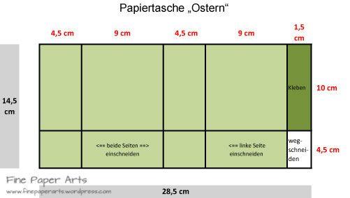 Anleitung Papiertasche Ostern