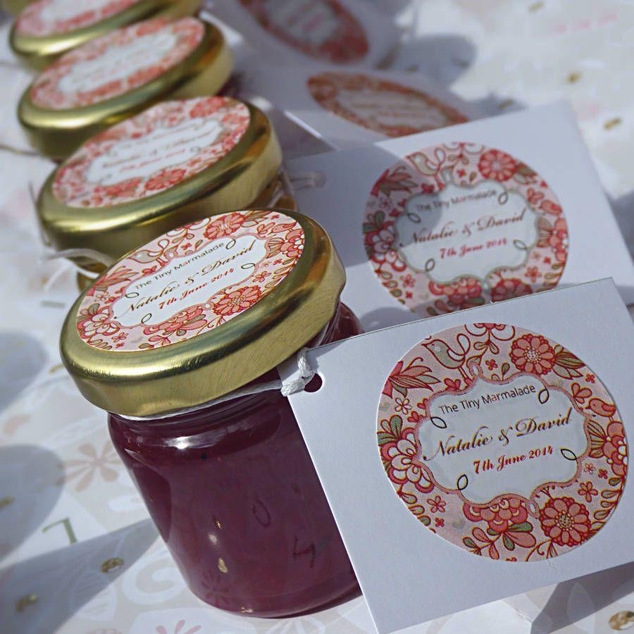 personalised mini jam wedding favours jar wedding favours