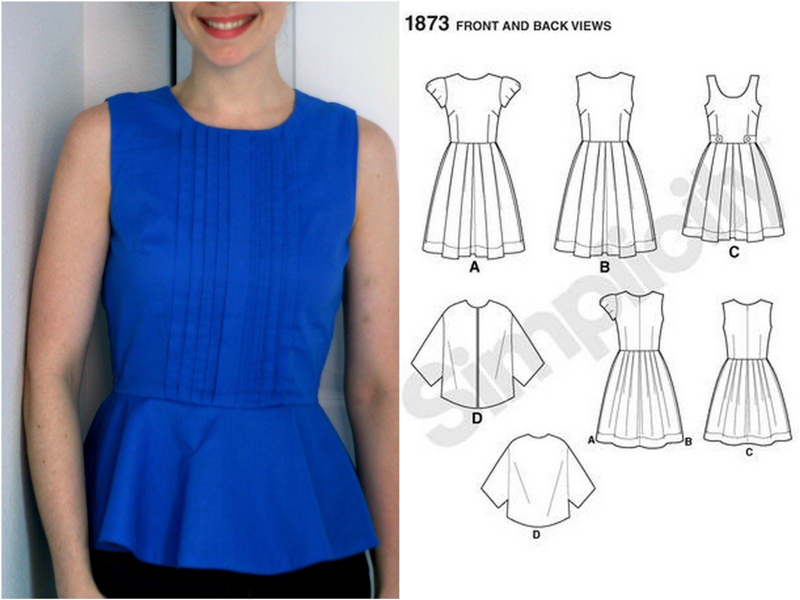 Adventures in dressmaking how to make a peplum top out of