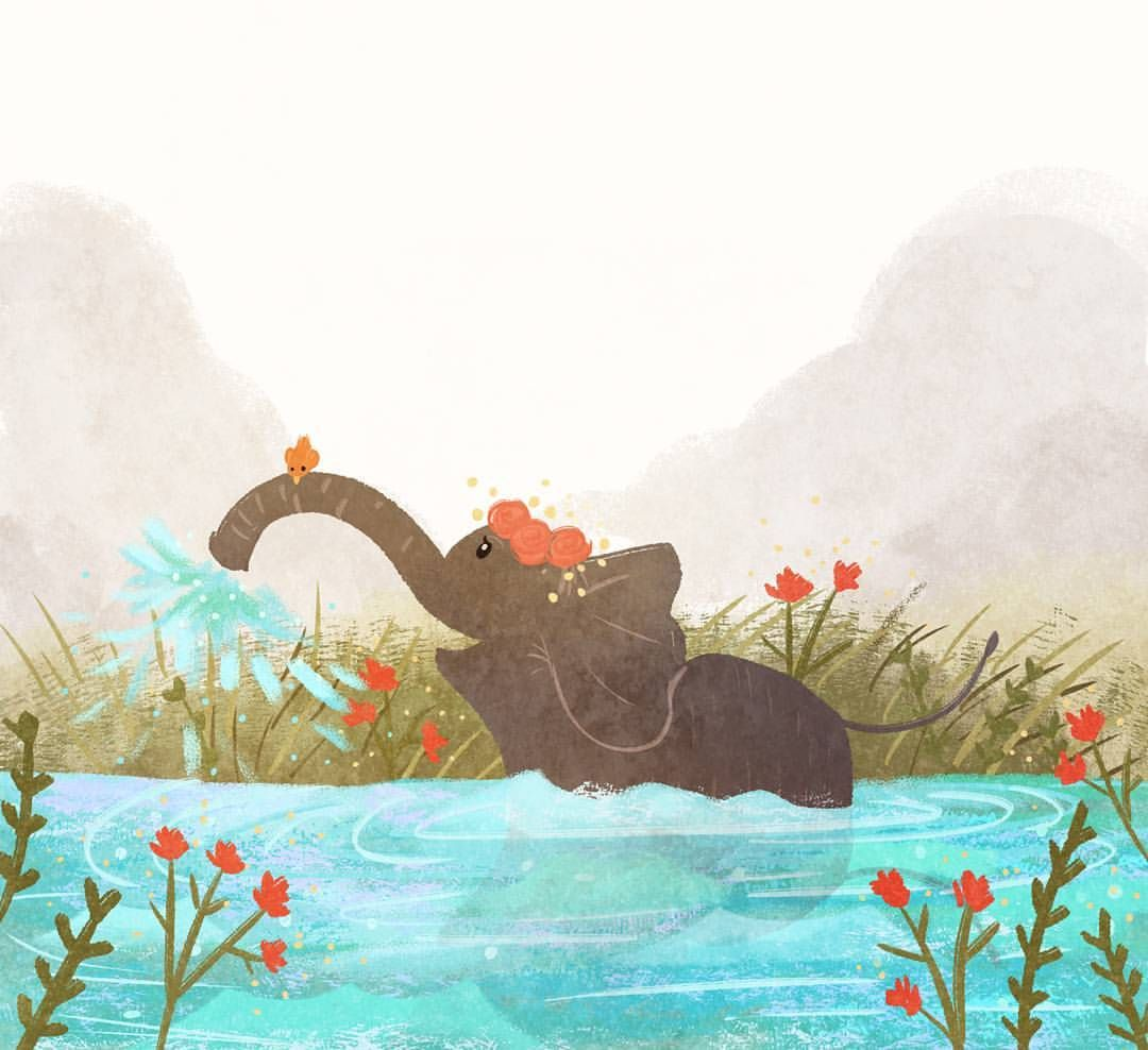 Art from last week, been experimenting more with textures 😊in other news, the time has finally come and I have started work on my graduation children's book 😵 gonna be a busy next three months! #digitalart #illustration #characterdesign #art #visualdevelopment #doodleoftheday #doodle #sketch #photoshop #landscape #conceptart #kidlit #kidlitart #childrensbook #childrensliterature #elephant